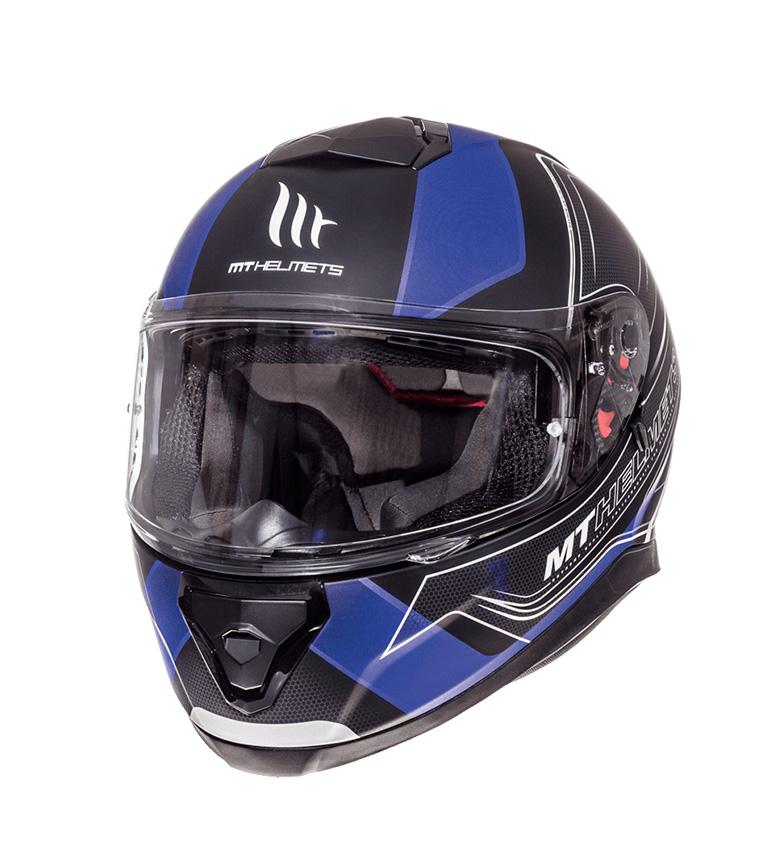 Comprar MT Helmets Capacete integral MT Thunder 3 SV Trace preto, azul mate