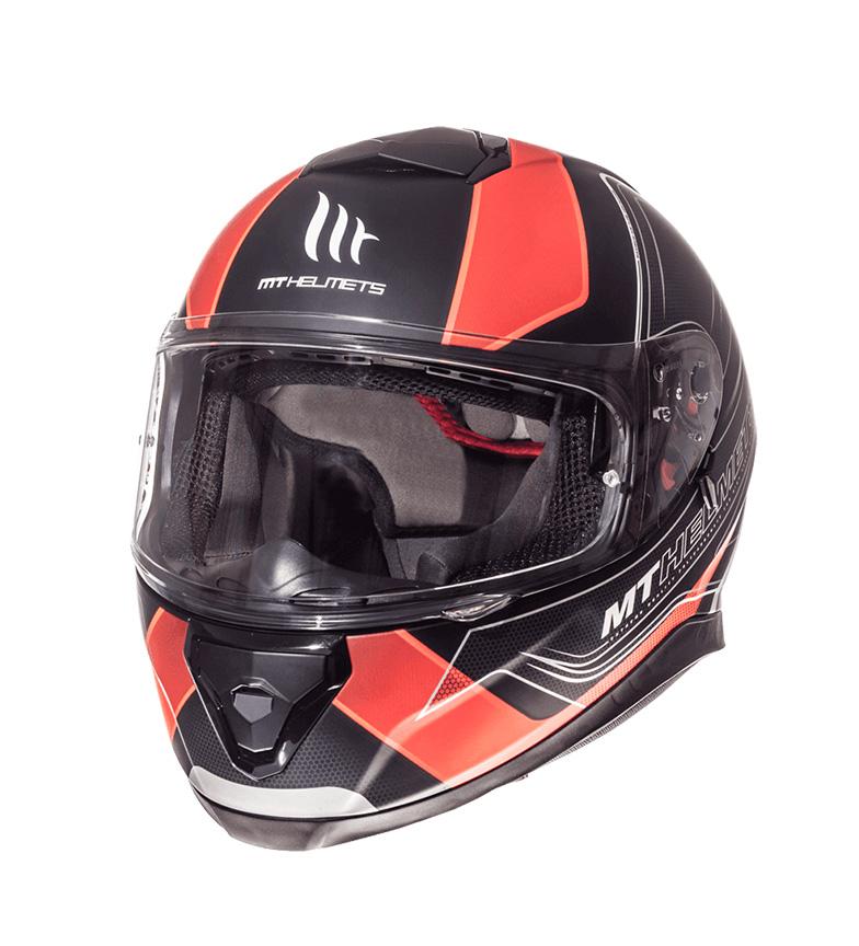 Comprar MT Helmets Casco integral MT Thunder 3 SV Trace  negro, naranja fluor mate