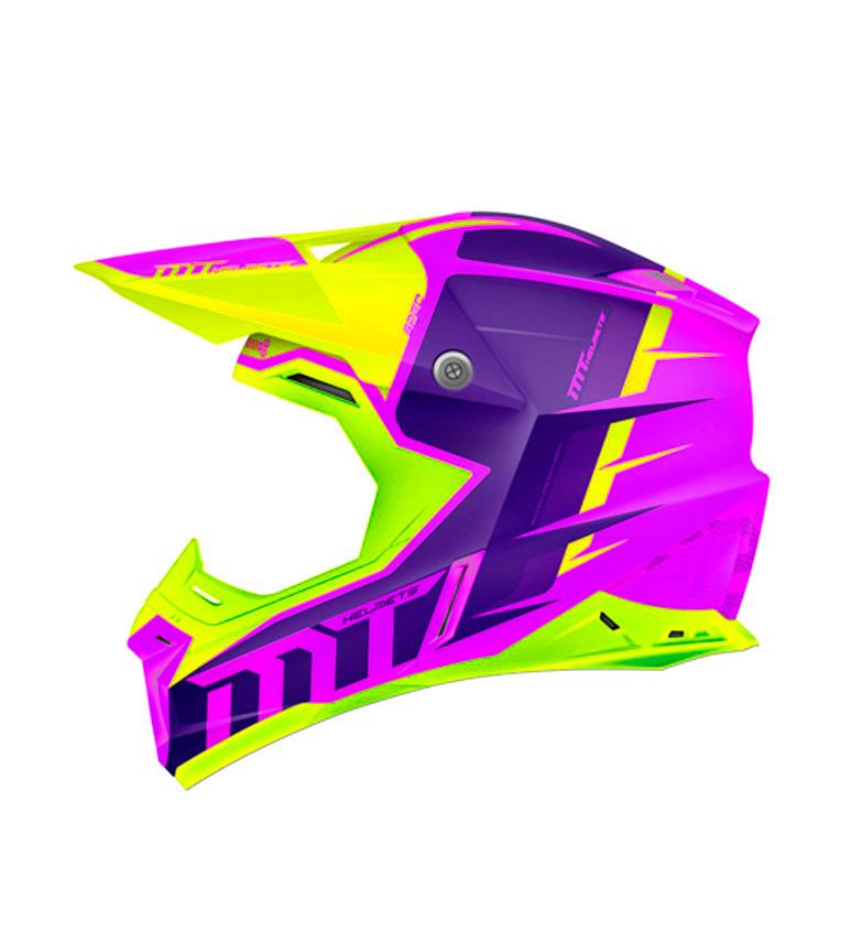 Comprar MT Helmets Casco off road MT Synchrony Spec fucsia, amarillo