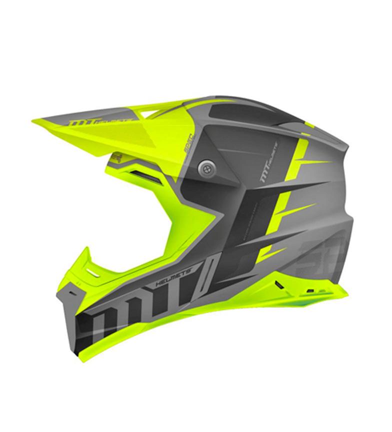 Comprar MT Helmets MT Synchrony off road cinza capacete Spec, amarelo