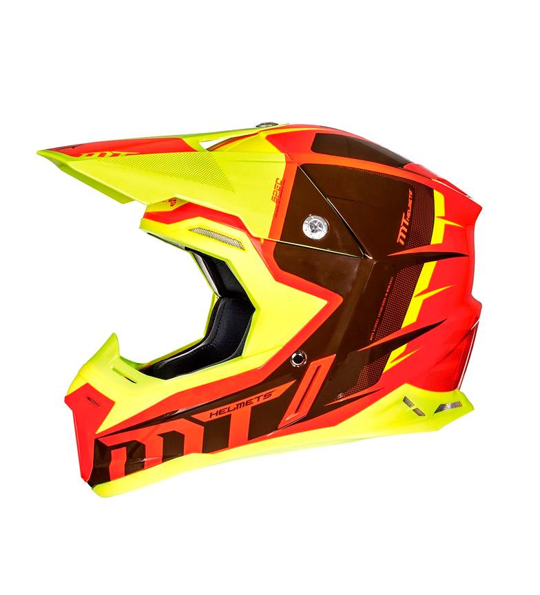 Comprar MT Helmets Casco off road MT Synchrony Spec rojo, amarillo