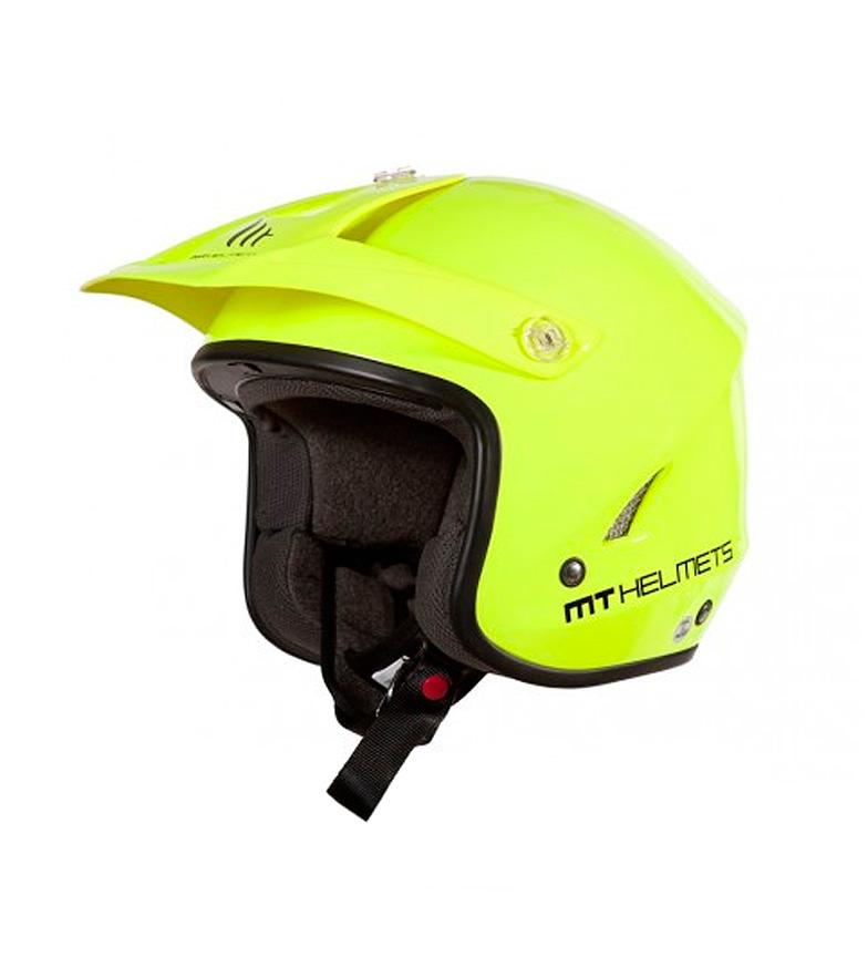 Comprar MT Helmets Casco trial MT Trial Tr-One amarillo flúor