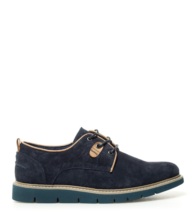 Much More Zapatos de piel Jan navy