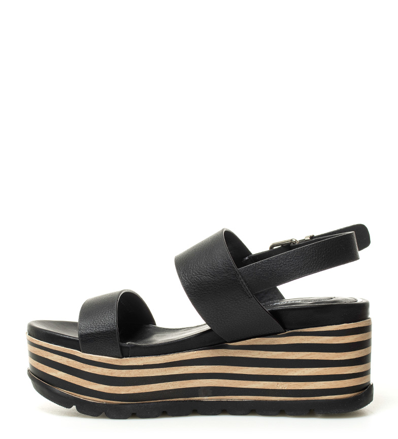 Shannon Altura cuña 7cm negro Sandalias Mustang 60A8x