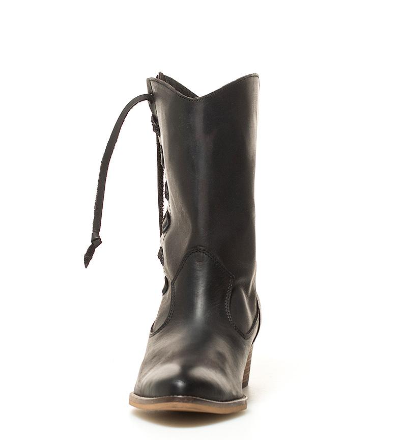 Mustang Botas de piel Naomi negro