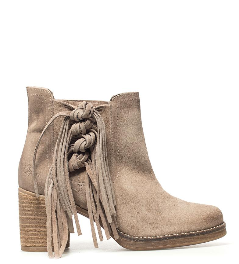 Comprar Mustang Botines de piel Atenea taupe -Altura tacón: 7.5cm-
