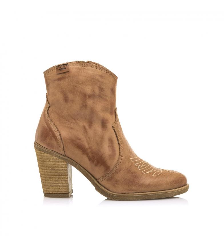 Comprar Mustang Botines de piel Kansas cuero -Altura tacón: 8.50 cm-