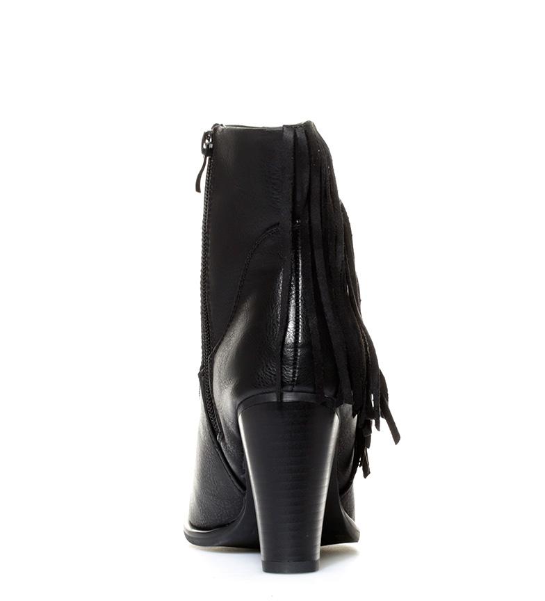 Mustang-Botines-Fuse-Mujer-chica-Marron-Negro-8-a-10cm-Cremallera-Casual miniatura 13