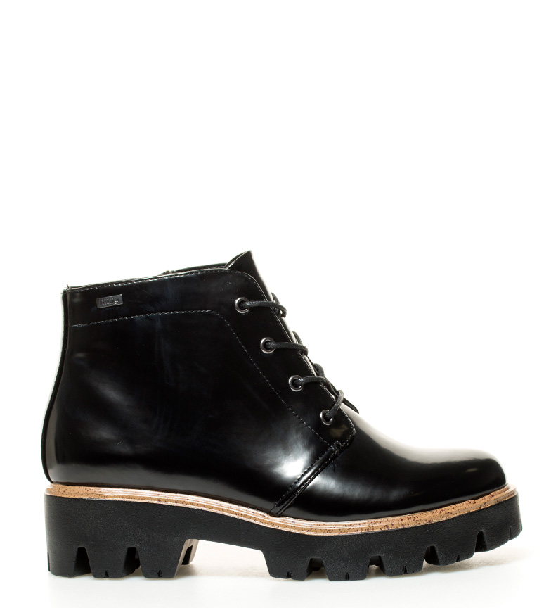 nuevo estilo 8643e b94e9 Detalles de Mustang - Botines Mila negro -Altura suela: 5cm- Mujer/chica 3  a 5cm Cordones