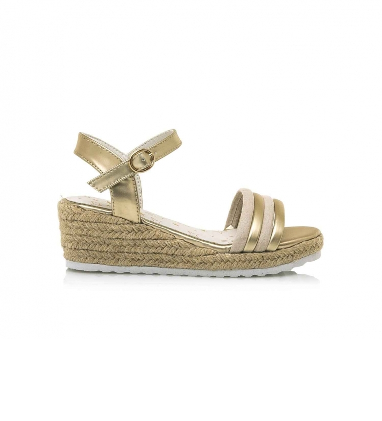 Mustang Kids Sandals 48015 gold -Height wedge: 5 cm