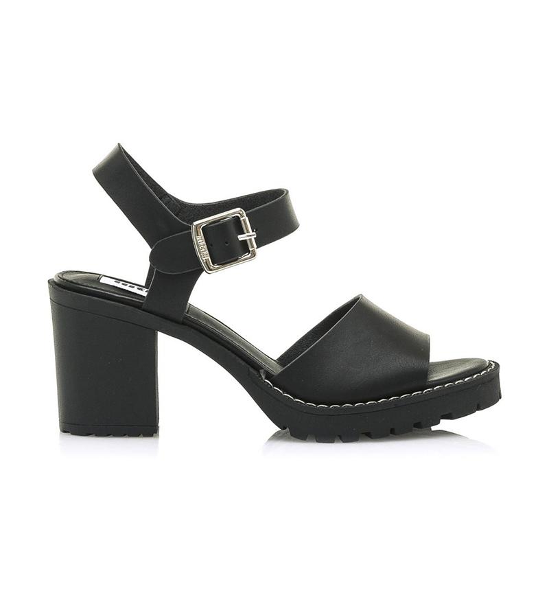 Comprar Mustang Sandales en cuir noir Tina - hauteur du talon : 5cm