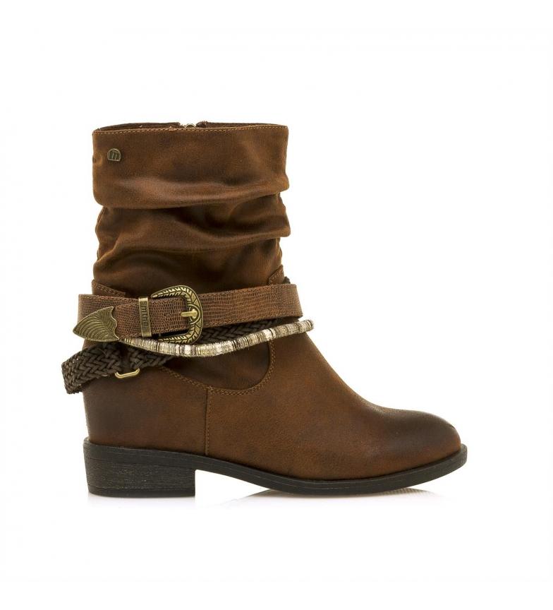 Comprar Mustang New Wendy brown boots - Inner wedge height + heel: 7cm