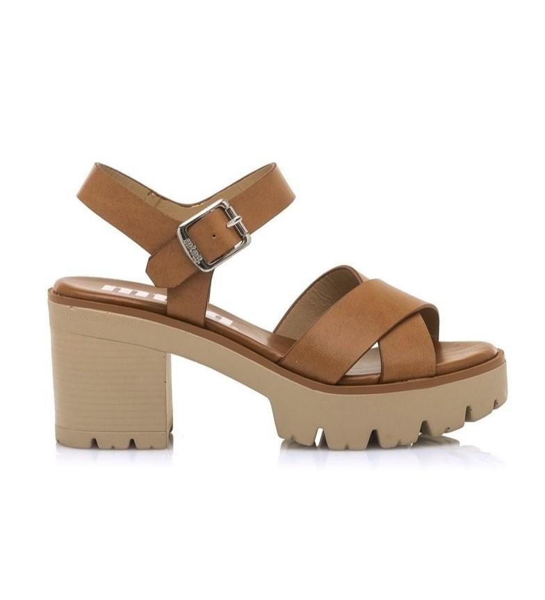 Comprar Mustang Sandálias de couro Saba - altura da plataforma + calcanhar: 8cm