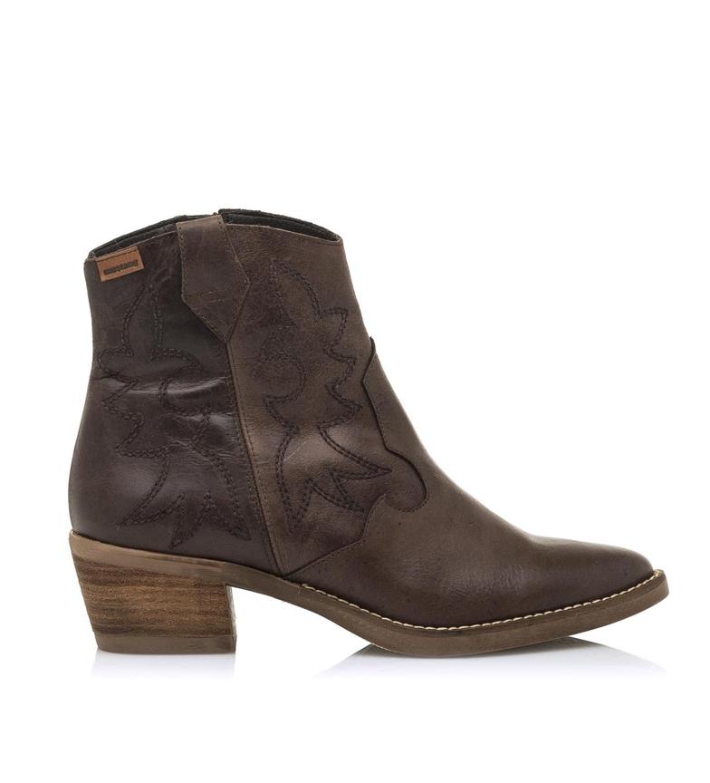 Comprar Mustang Botas de couro castanho-escuro para tornozelo Cleo