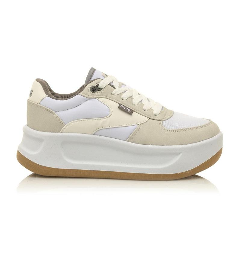 Comprar Mustang Chaussures de marche blanc, beige - Hauteur de plate-forme. 5,5cm
