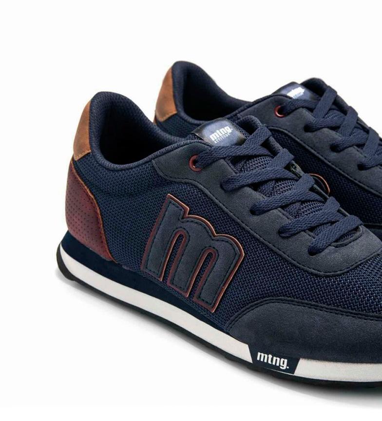 Mustang-Sneakers-Funner-Uomo-Blu-Verde-Nero-Granata-Grigio-Tessuto-Sintetico