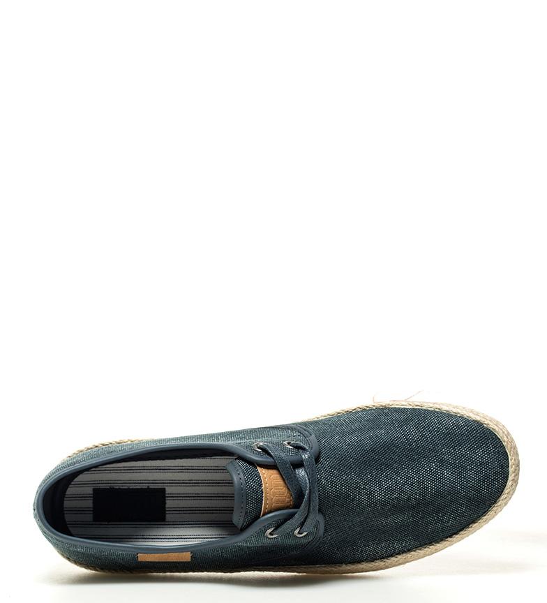 Mustang-Zapatillas-Esparta-Tela-Plano-Cordones-Casual-Granate-Azul-Hombre