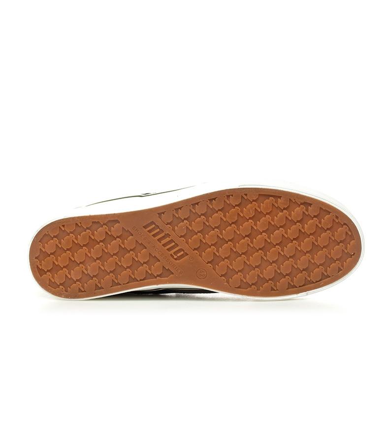 Mustang-Baskets-Burton-Homme-Tissu-Synthetique-Plat-Lacets-Casuel-Grenat-Vert miniature 17