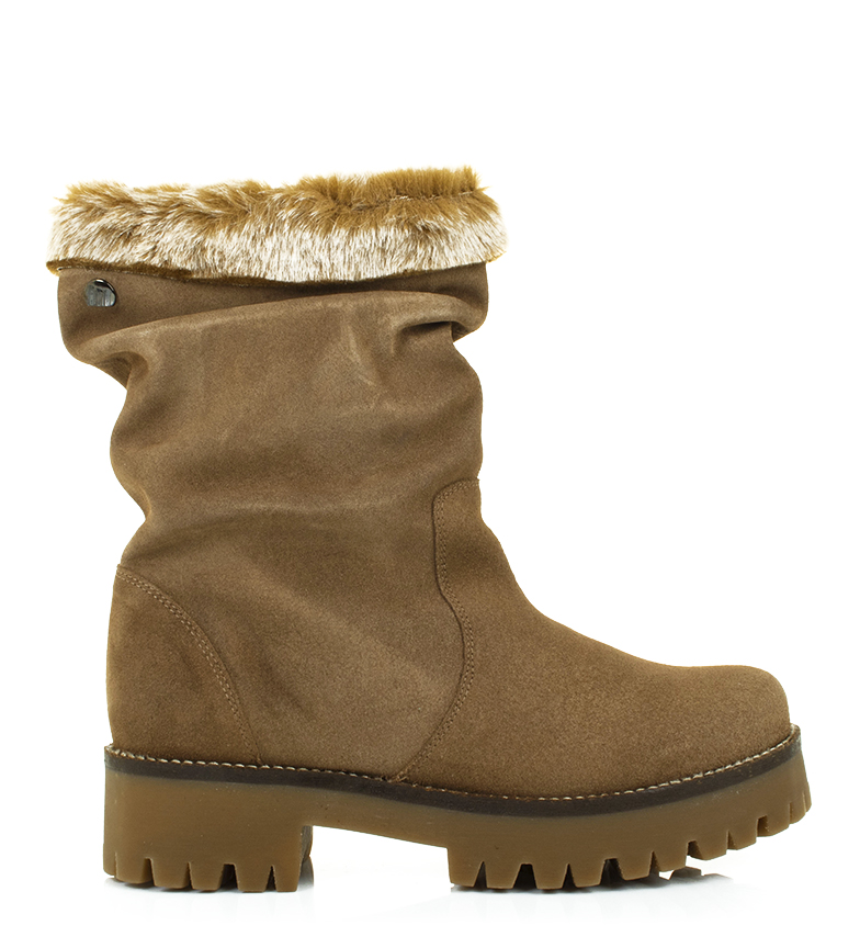 Comprar Mustang Leather boots Sienna taupe -Heel height:4.3cm