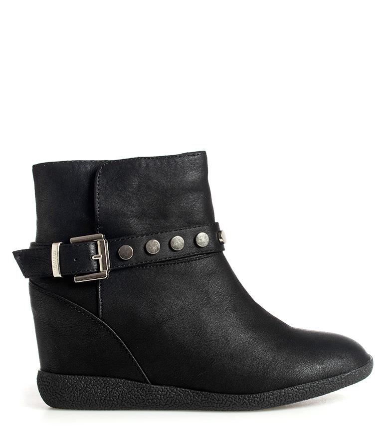 Comprar Mustang Olga black boots - Wedge height: 7cm-