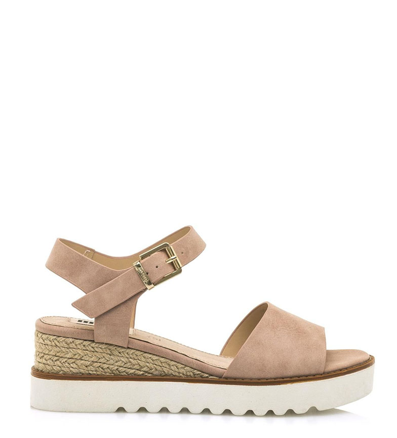 Comprar Mustang Sandals Rosa nude - Wedge height: 6cm