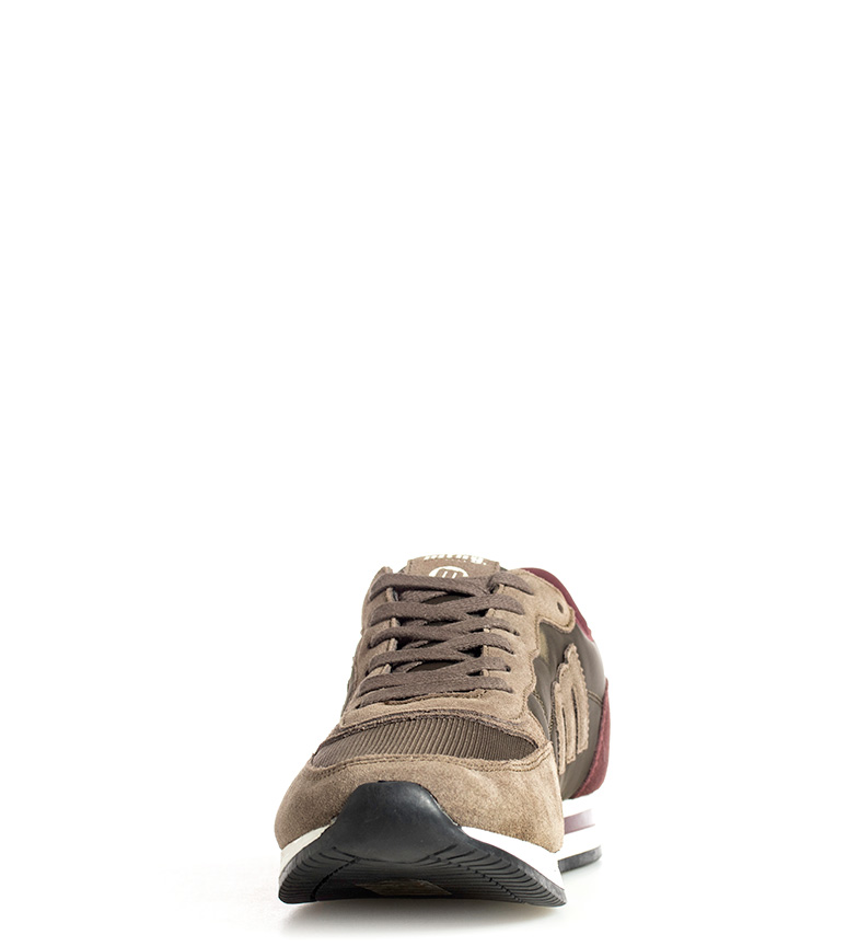Mustang-Sneakers-in-pelle-Metro-Uomo-Tessuto-Blu-Nero-Verde-Granata-Basso miniatura 11