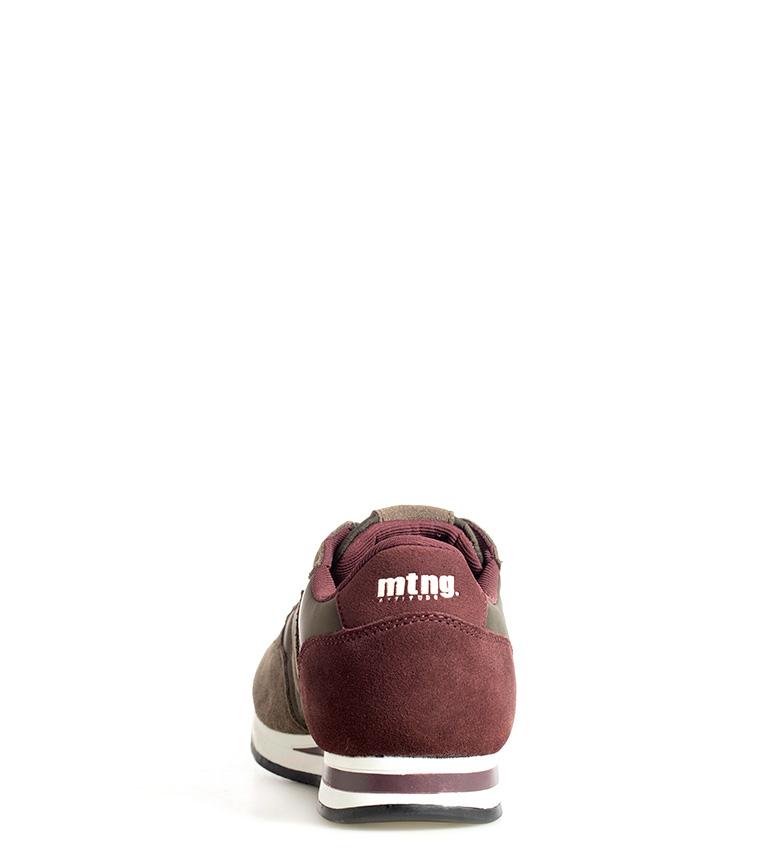 Mustang-Sneakers-in-pelle-Metro-Uomo-Tessuto-Blu-Nero-Verde-Granata-Basso miniatura 12