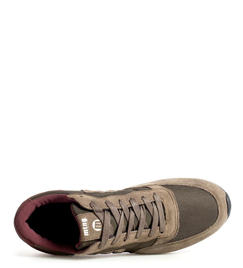 Mustang-Sneakers-in-pelle-Metro-Uomo-Tessuto-Blu-Nero-Verde-Granata-Basso miniatura 14