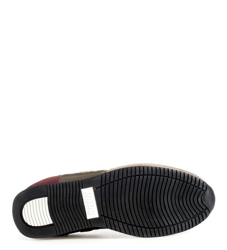 Mustang-Sneakers-in-pelle-Metro-Uomo-Tessuto-Blu-Nero-Verde-Granata-Basso miniatura 15