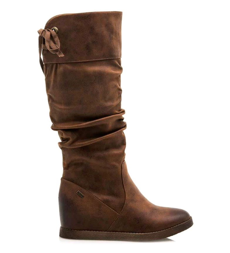 Comprar Mustang Brown Kong boots - Wedge height: 7cm-