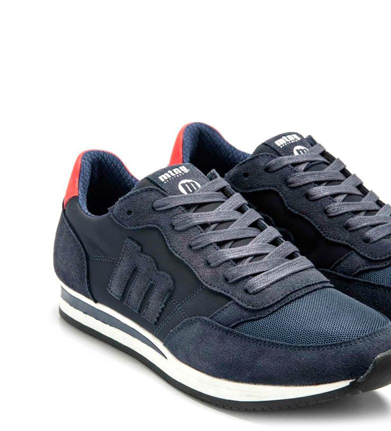 Mustang-Sneakers-in-pelle-Metro-Uomo-Tessuto-Blu-Nero-Verde-Granata-Basso miniatura 19