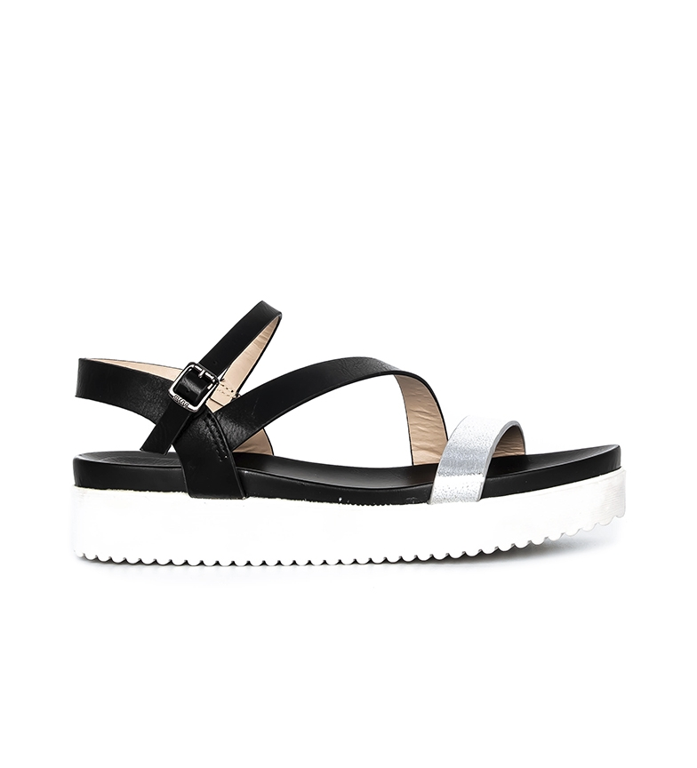 Comprar Mustang Ferry sandals black, silver - Platform height: 4cm