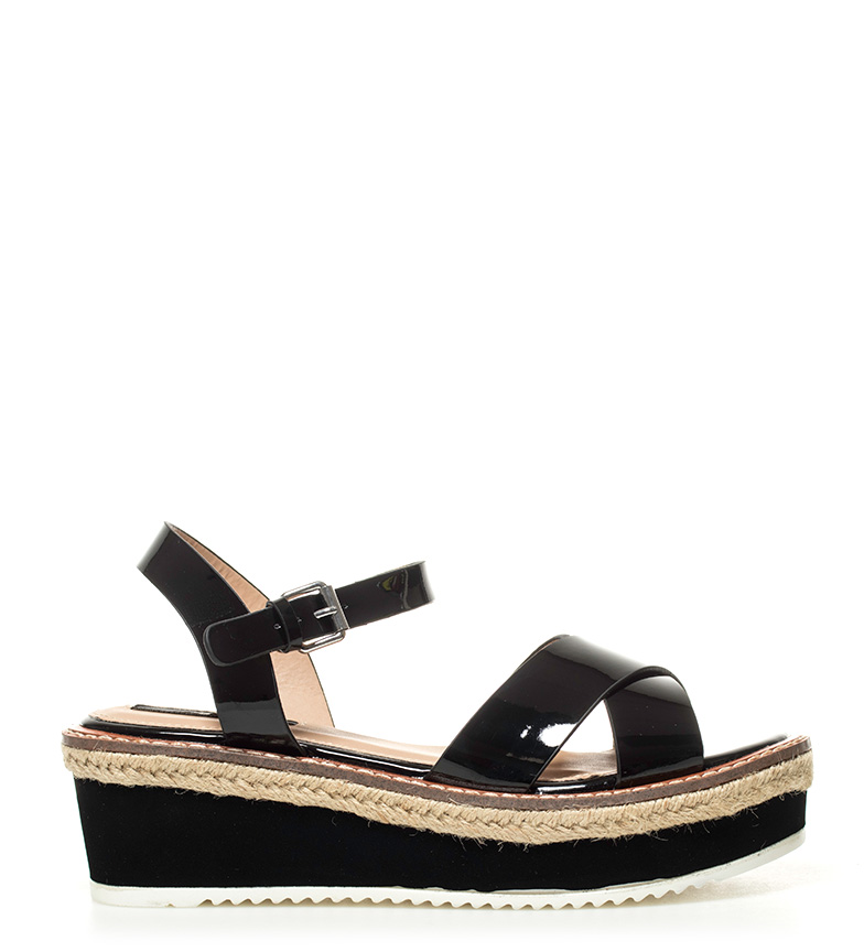 Comprar Mustang Sandals Mirella black - Platform height: 5,5cm-