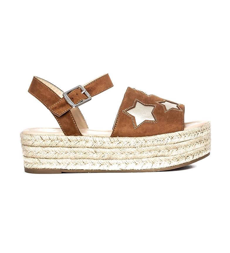 Comprar MTNG Star sandals brown - Platform height: 5cm