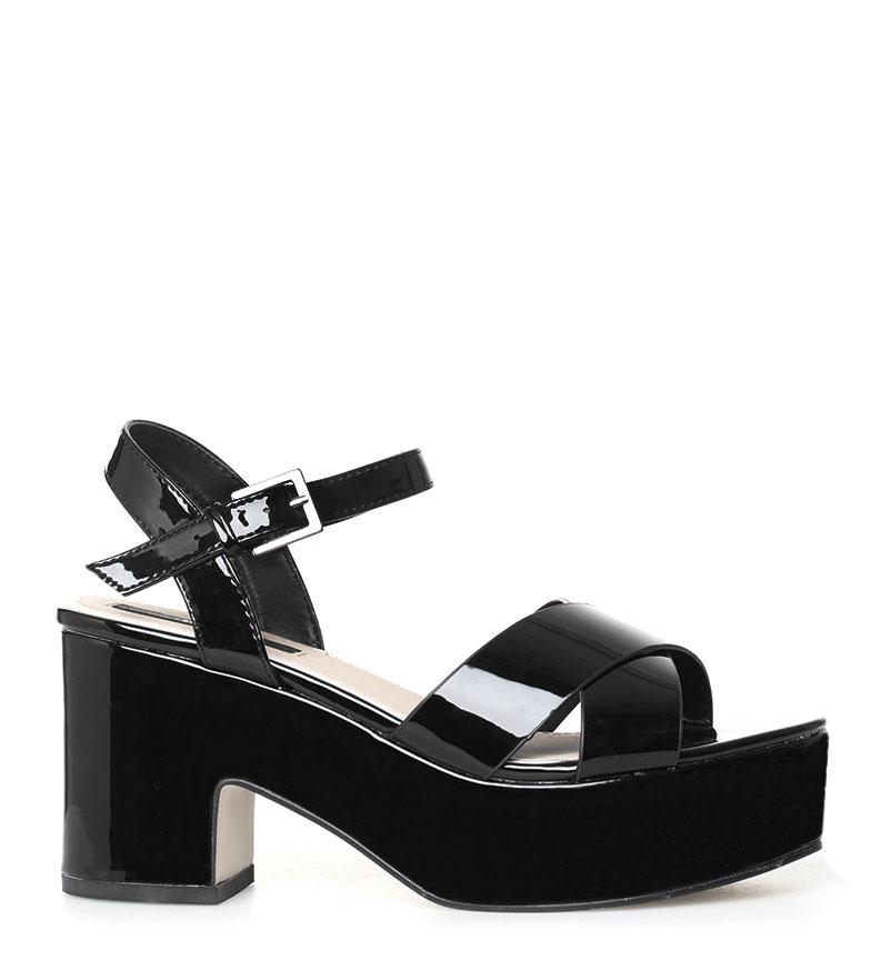 Comprar Mustang Unai black sandals -Heel height: 9 cm