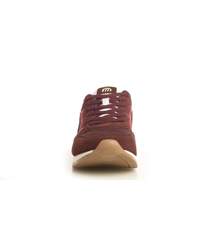Mustang-Sneakers-in-pelle-Metro-Uomo-Tessuto-Blu-Nero-Verde-Granata-Basso miniatura 4