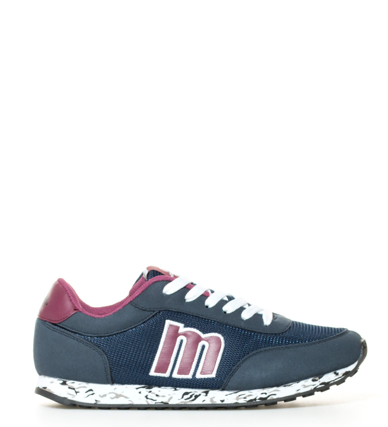 Mustang-Zapatillas-Funner-Azul-Negro-Plano-Cordones-Casual-Sintetico-Tela