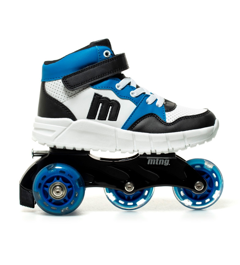 Comprar Mustang Kids Sneakers-Skates Roller blanc, noir, bleu