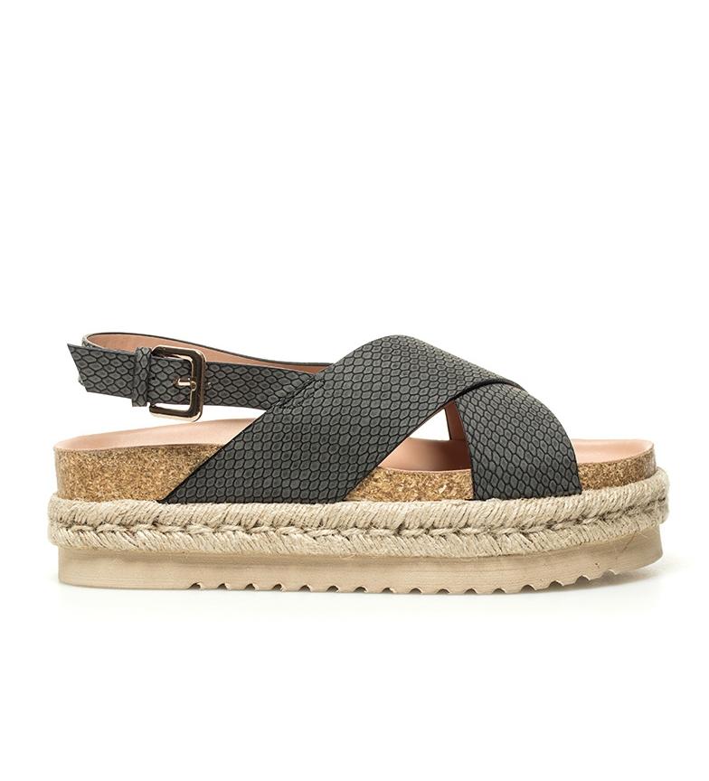 Comprar Mustang Sandálias pretas Alison - Altura da plataforma: 5cm