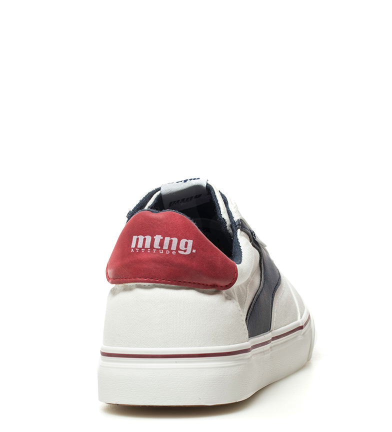 Mustang-Baskets-Burton-Homme-Tissu-Synthetique-Plat-Lacets-Casuel-Grenat-Vert miniature 30
