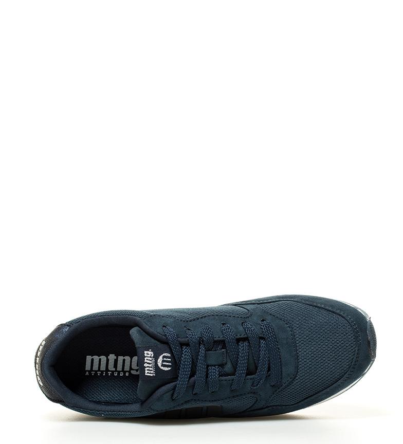 Mustang-Zapatillas-Toon-Tela-Plano-1-a-3cm-3-a-5cm-Cordones-Casual-Rosa-Azul