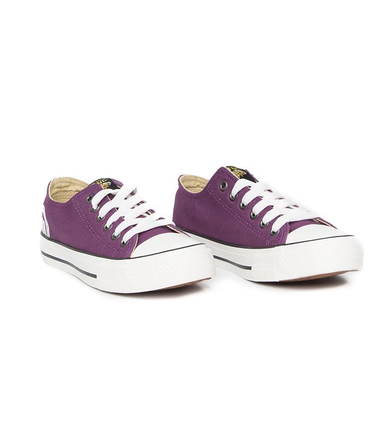 Mustang-Baskets-Trend-Low-Femme-Dore-Blanc-Violet-Bleu-Noir-Rose-Rouge-Plat miniature 28