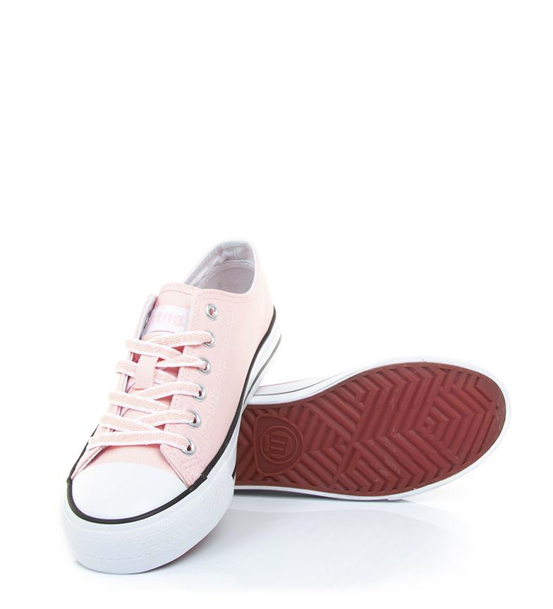 Mustang-Baskets-Trend-Low-Femme-Dore-Blanc-Violet-Bleu-Noir-Rose-Rouge-Plat miniature 43
