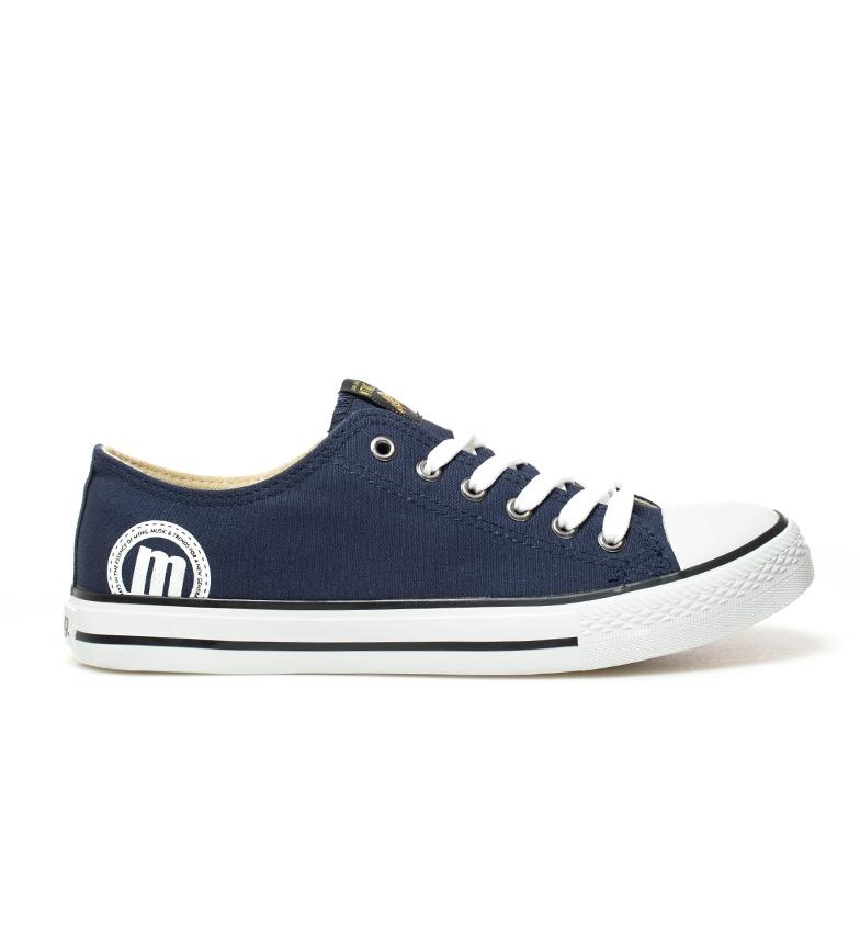 Mustang-Zapatillas-Trend-Low-Hombre-chico-Blanco-Gris-Negro-Granate-Azul-Tela miniatura 9