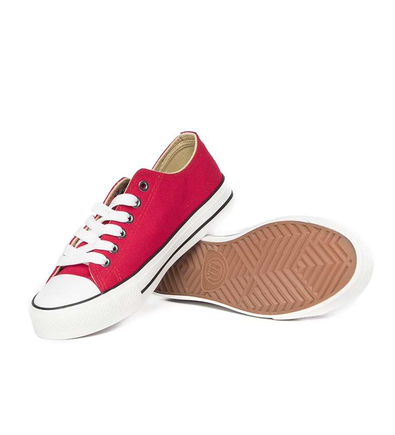 Mustang-Zapatillas-Trend-Low-Mujer-chica-Dorado-Blanco-Lila-Azul-Negro-Rosa miniatura 67