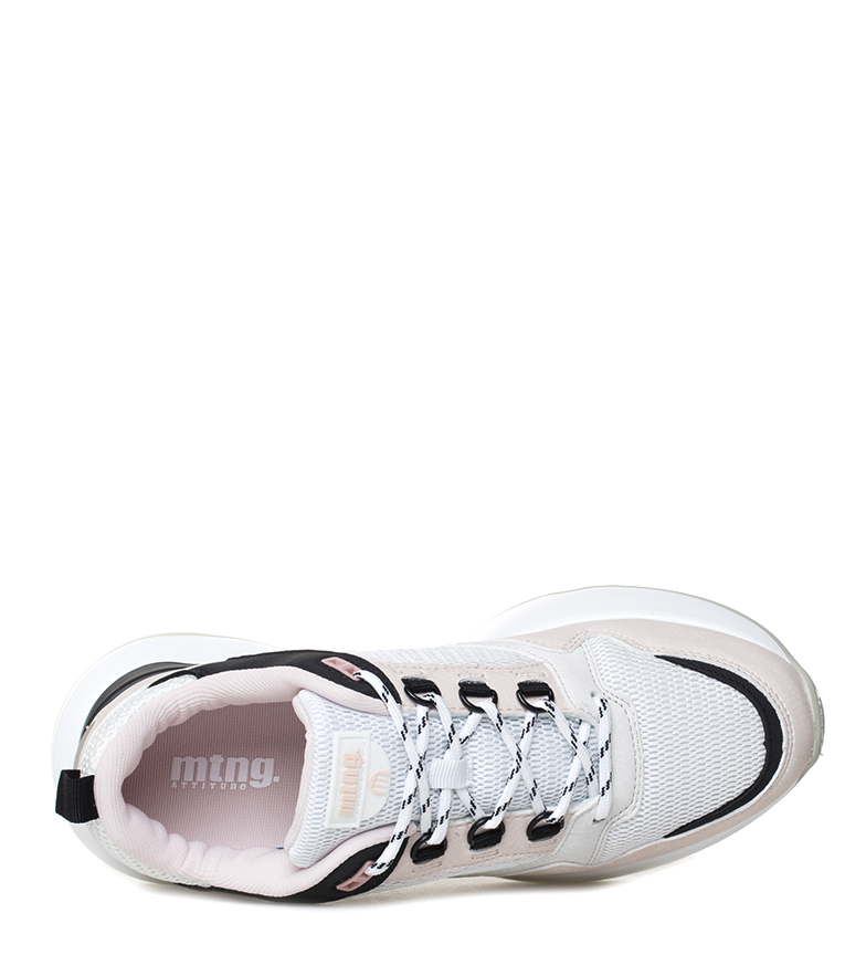 Mustang-Zapatillas-Yoda-Mujer-chica-Blanco-Rosa-3-a-5cm-Cordones-Casual miniatura 16