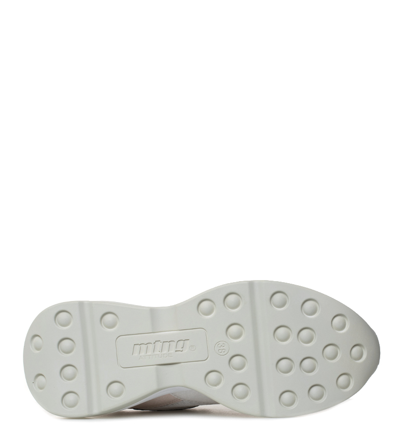 Mustang-Zapatillas-Yoda-Mujer-chica-Blanco-Rosa-3-a-5cm-Cordones-Casual miniatura 17