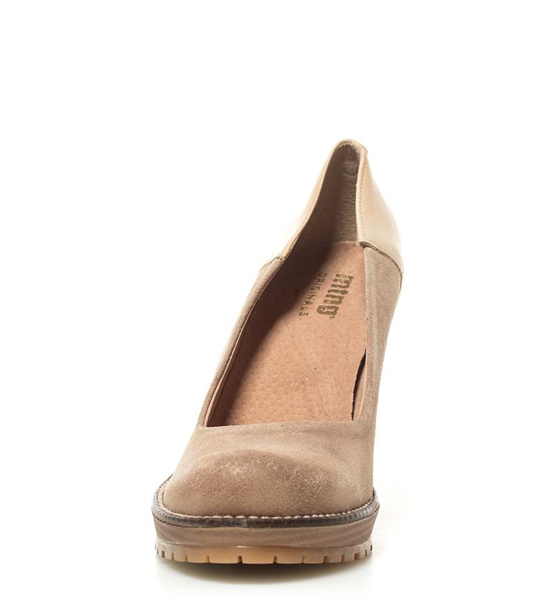 Elise Altura Mustang tacón de crudo piel 10cm Mustang Zapatos Zapatos qS0TX55