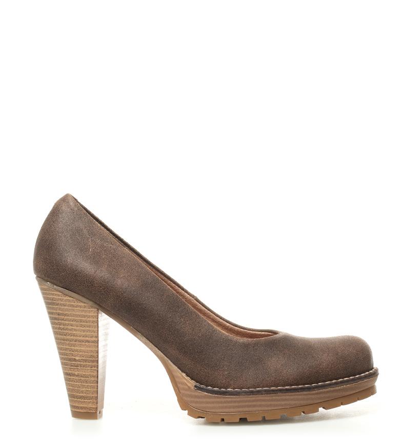 piel Zapatos marrón de tacón Laila Mustang 10cm Altura qd6E8d