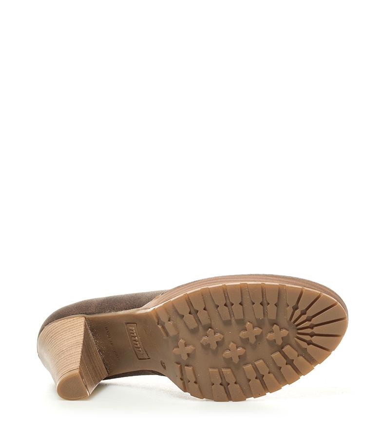 Mustang Zapatos de piel Laila marrón Altura tacón: 10cm